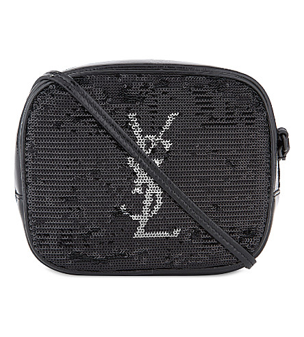 SAINT LAURENT Monogram blogger cross-body bag (Black