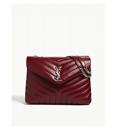 SAINT LAURENT Monogram Loulou medium leather shoulder bag (Palisandre