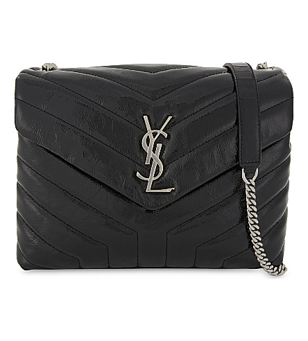 SAINT LAURENT Monogram LouLou leather shoulder bag (Black