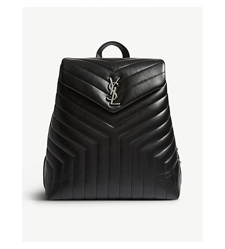 SAINT LAURENT LouLou medium quilted leather backpack (Black