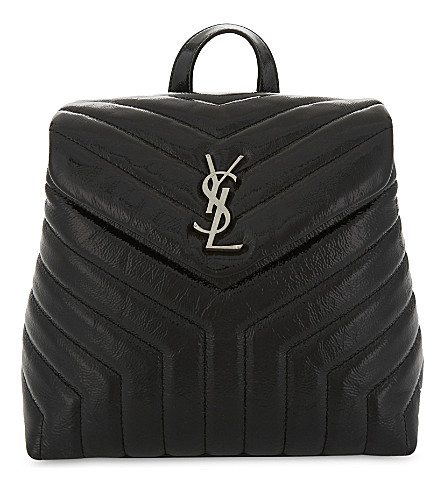 SAINT LAURENT LouLou small leather backpack (Black