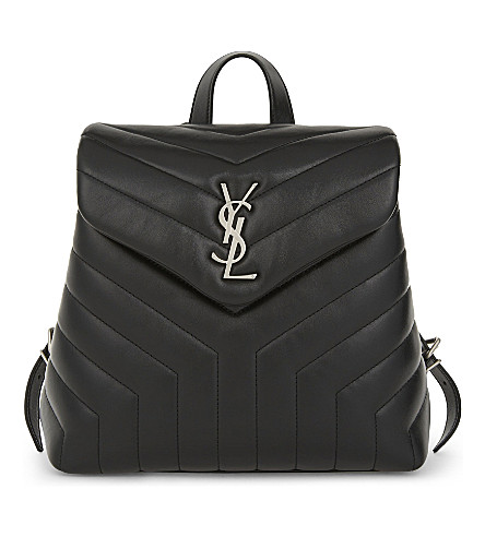 SAINT LAURENT Loulou quilted leather backpack (Black