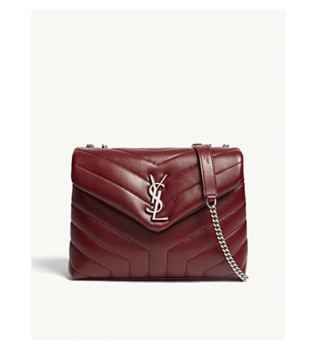 SAINT LAURENT Monogram LouLou small leather shoulder bag (Palisandre