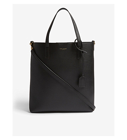 SAINT LAURENT Toy North/South leather tote (Black