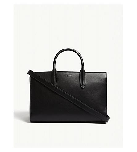 SAINT LAURENT Jane medium leather tote (Black