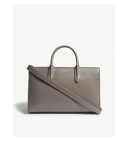 SAINT LAURENT Jane medium leather tote (Fog