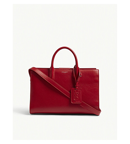 SAINT LAURENT Jane medium leather tote (Rouge