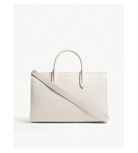 SAINT LAURENT Jane medium leather tote (Cream