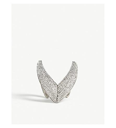 SAINT LAURENT Smoking V crystal cuff bracelet (Crystal