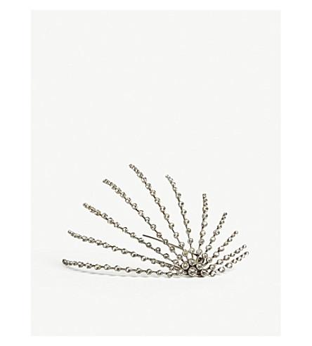 SAINT LAURENT Crystal embellished hair band (Crystal