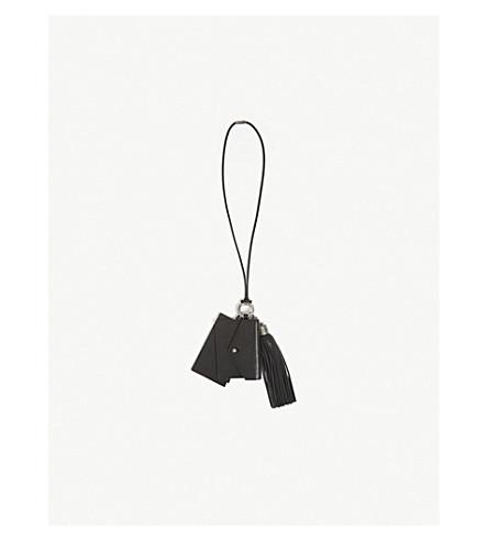 SAINT LAURENT Leather multi lanyard (Black