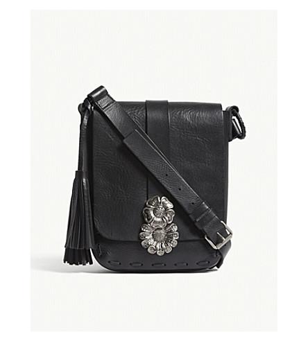SAINT LAURENT Besace leather shoulder bag (Black