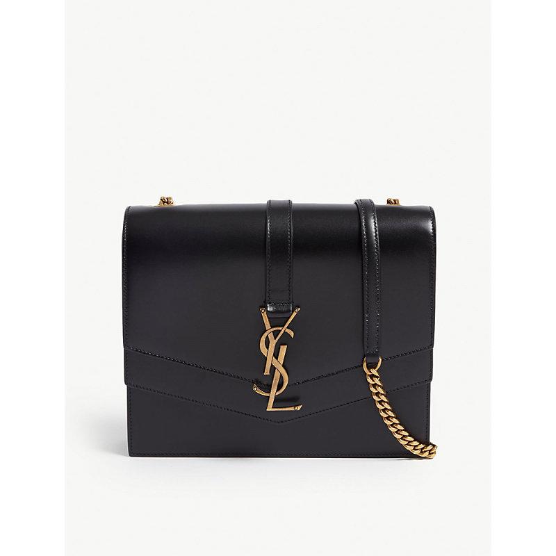 SAINT LAURENT Sulpice monogram leather shoulder bag