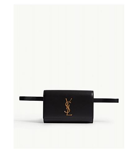 SAINT LAURENT Kate leather bum bag (Black/gold
