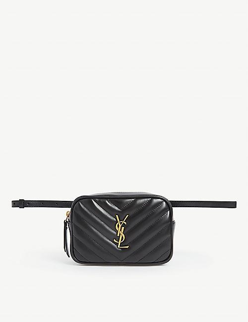 SAINT LAURENT Lou leather bum bag