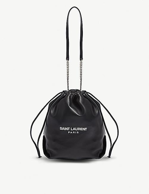 SAINT LAURENT Teddy leather bucket bag
