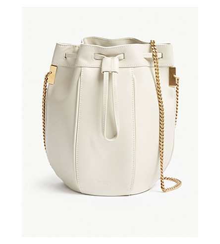 429d7d111bfa ... SAINT LAURENT Talitha small leather bucket bag (White. PreviousNext