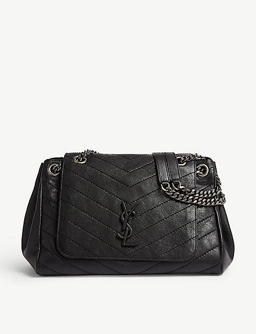 SAINT LAURENT Nolita monogram medium leather shoulder bag 6e0ed80763