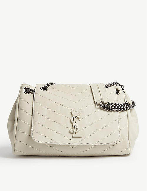 SAINT LAURENT Nolita monogram medium leather shoulder bag 827549853e27e