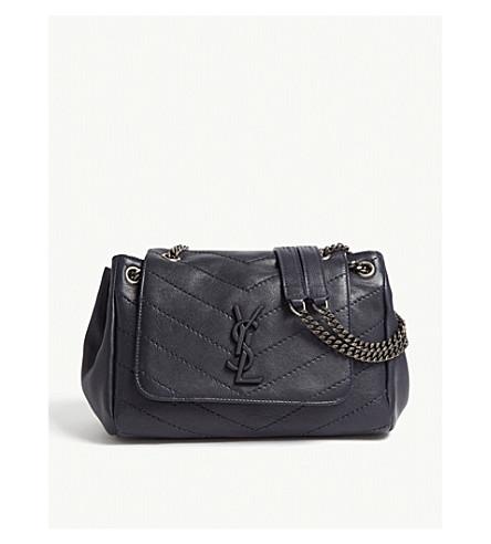 ec02fbea2a4b SAINT LAURENT Nolita monogram small leather shoulder bag (Midnight+blue