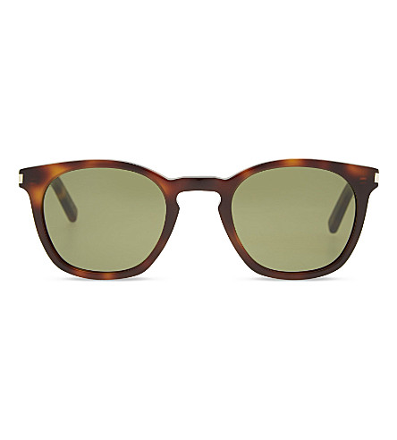 SAINT LAURENT Sl2800 original square-frame sunglasses (Avana+green