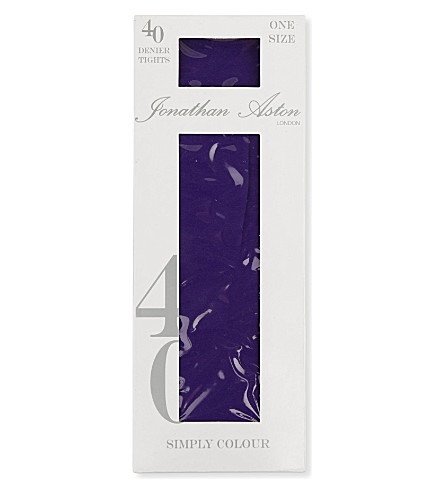 JONATHAN ASTON 40 denier opaque tights (Violet