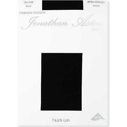 JONATHAN ASTON 40 denier hold-ups (Black