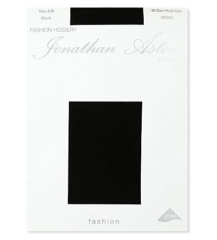 JONATHAN ASTON 40 denier hold-ups (Black