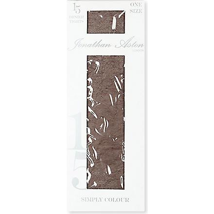 JONATHAN ASTON Colour Palette 15 denier tights (Chocolate
