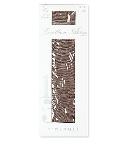 JONATHAN ASTON Colour Palette 15 denier tights (Chocolate