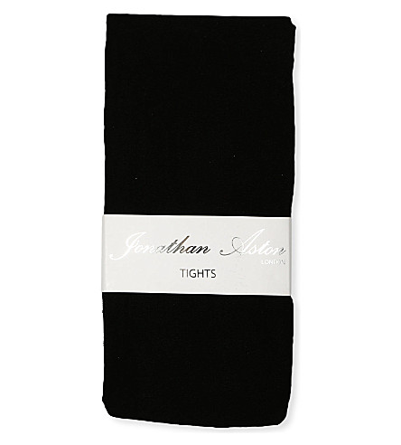 JONATHAN ASTON Gloss opaque tights (Black