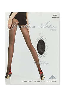 JONATHAN ASTON Contrast seam heel tights
