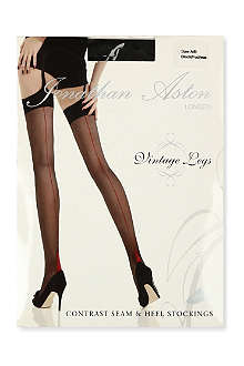 JONATHAN ASTON Contrast seam heel stockings