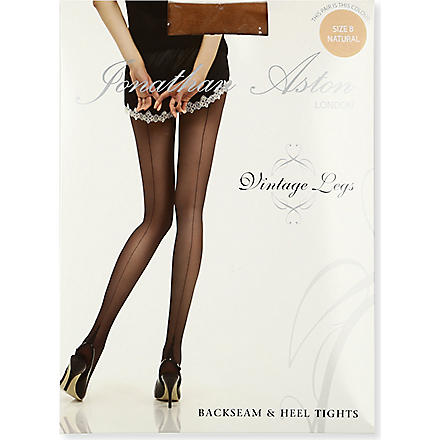 JONATHAN ASTON Lycra seam heel tights (Natural/natural