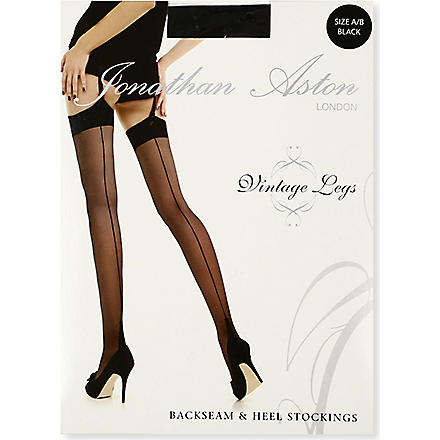 JONATHAN ASTON Lycra seam and heel stocking (Black/black