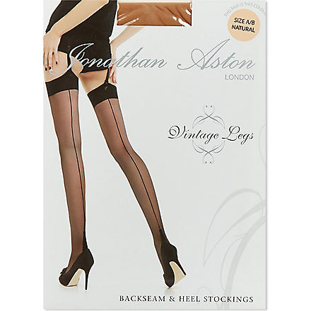 JONATHAN ASTON Backseam and heel stockings (Natural/natural