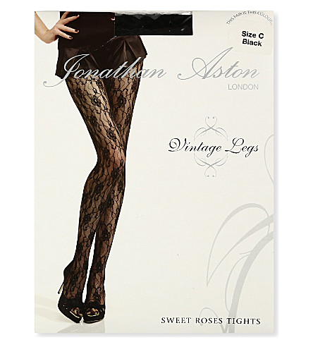 JONATHAN ASTON Sweet roses tights (Black