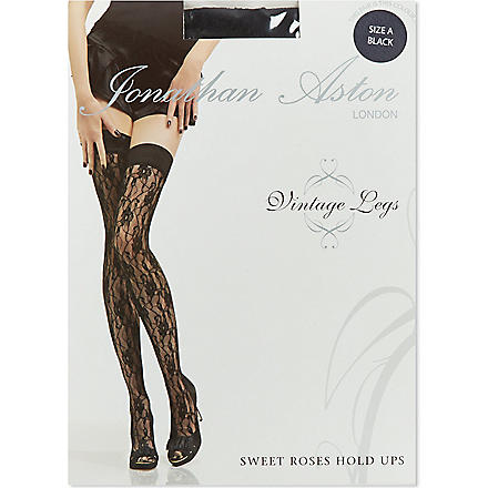 JONATHAN ASTON Sweet Roses hold-ups (Black