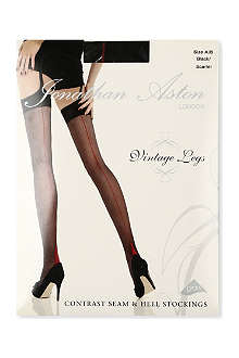 JONATHAN ASTON Contrast seam stockings