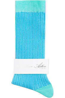 JONATHAN ASTON Yulu tuck stitch socks