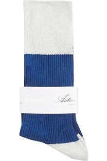 JONATHAN ASTON Iris sparkle ribbed socks
