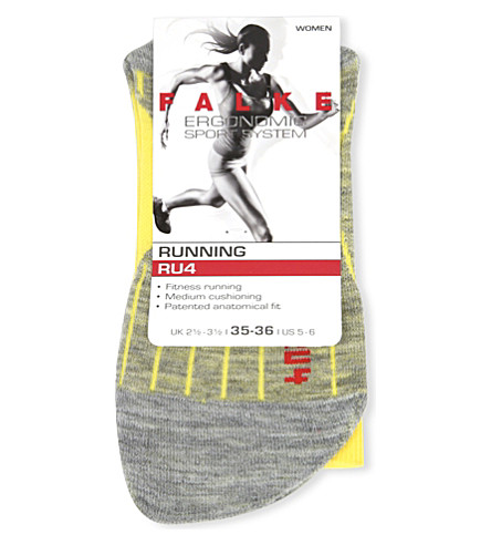 FALKE ERGONOMIC SPORT SYSTEM RU4 cushioned cotton-blend ankle socks (1380+sun