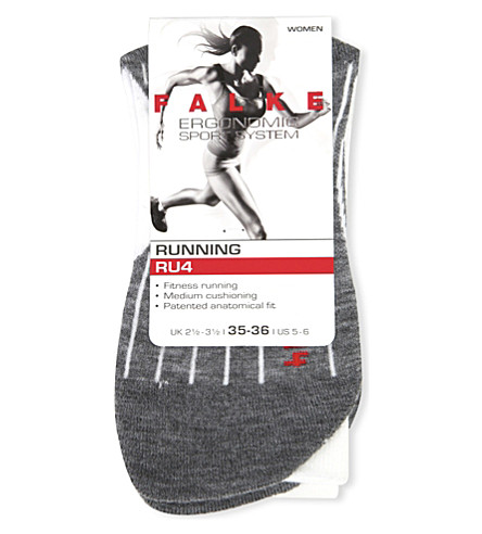 FALKE ERGONOMIC SPORT SYSTEM RU4 cushioned cotton-blend ankle socks (2020+white+mix