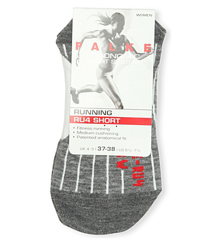 FALKE ERGONOMIC SPORT SYSTEM RU4 cushioned cotton-blend short socks (2020+white+mix