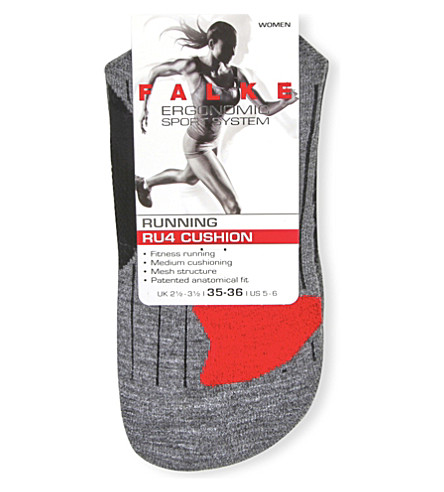 FALKE ERGONOMIC SPORT SYSTEM RU4 cushioned cotton-blend socks (3010+black+mix