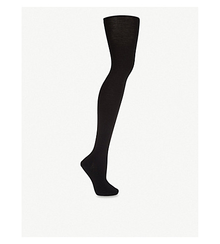 FALKE Merino-blend tights (Black