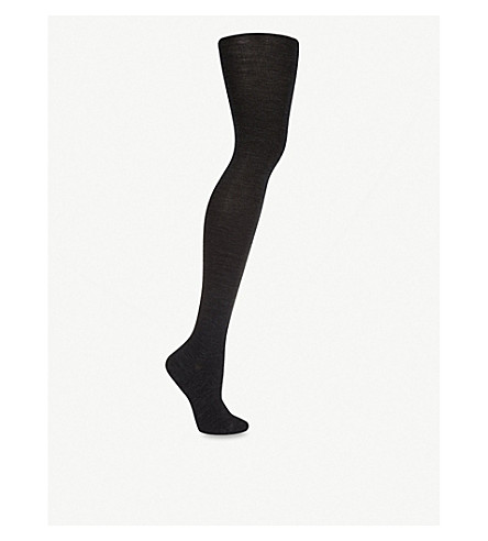 FALKE Merino-blend tights (Anth:+anthracite