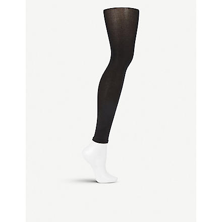 FALKE Cotton touch leggings (Black - 1