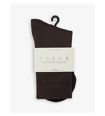 FALKE Cotton Touch socks (Chocolate