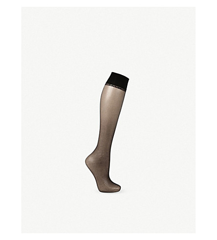 FALKE Shelina 12 denier knee-high pop socks (3009+black